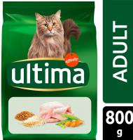 COMIDA GATO ULTIMA ADULTO POLLO, ARROZ Y CEREALES INTEGRALES 800 G