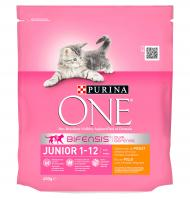 COMIDA GATO PURINA ONE JUNIOR POLLO-CEREALES INTEGRALES 450 G