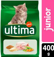 COMIDA GATO ULTIMA JUNIOR POLLO. ARROZ Y CEREALES INTEGRALES 400 G