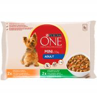 ALIMENT GOS PURINA ONE HUMIT ADULT 4 UNITATS 400 G