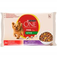 ALIMENT GOS PURINA ONE MINI ACTIVE 4 UNITATS 400 G