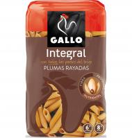 PASTA GALLO PLUMAS INTEGRAL 500 G