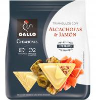 TRIANGULOS GALLO ALCACHOF-JAMON 250 G