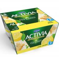 YOGUR ACTIVIA INFUSION LEMON 4 UNI