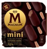 GELAT MAGNUM MINI INTENSE DARK 6 UNITATS
