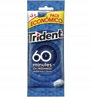 CHICLE TRIDENT + 60 MENTA 3 UNIDADES