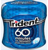 CHICLE TRIDENT SPHERE 60M MEN 80 G
