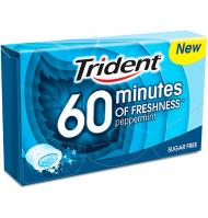 CHICLE TRIDENT +60 MENTA 1 PAQUETE