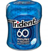 CHICLES TRIDENT 60 MINUTES MENTA 1 PAQUETE