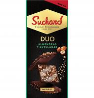 CHOCOLATE SUCHARD DUO ALMENDRAS Y AVELLANAS 103 G