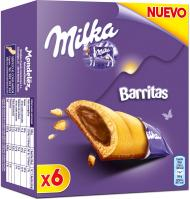 BARRITAS MILKA CHOCOLATE GALLETA 6 UNIDADES
