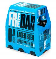 CERVEZA FREE DAMM SIN ALCOHOL 25 CL 6 UNIDADES