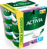ACTIVIA DANONE NATURAL 0%PACK 8 UNI