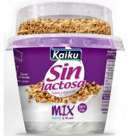 YOGUR SIN LACTOSA KAIKU MIX NATURAL 175 G
