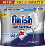 LAVAVAJILLAS FINISH MÁQUINA PASTILLAS QUANTUM REGULAR 18 + 9  27 UNIDADES