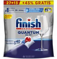 LAVAVAJILLAS FINISH MÁQUINA PASTILLAS QUANTUM REGULAR 27+13 40 UNIDADES