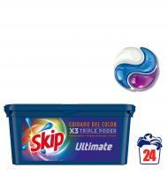 DETERGENTE SKIP POWERCAPS COLOR 24 UNIDADES