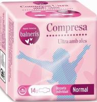 COMPRESA BALNERIS ALAS NORMAL 14 UNIDADES
