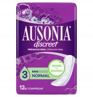 COMPRESA AUSONIA DISCREET NORMAL 12 UNIDADES