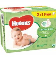 TOVALLOLETES HUGGIES NATURAL CARE 168 UNITATS