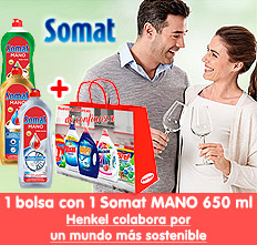 Somat Mano 650 ml con Bolsa Multimarca de regalo