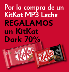 x2 Kit Kat MP3, 1 Kit Kat Chocolate Negro de Regalo