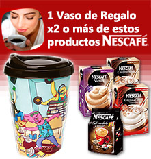 1 Vaso On The Go de regalo x2 Nescafés en oferta