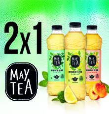 2x1 en la gama de May Tea 1 litro