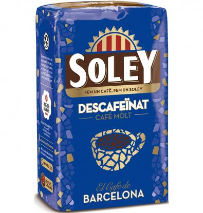 CAFÉ MOLIDO SOLEY DESCAFEINADO NATURAL 250 G