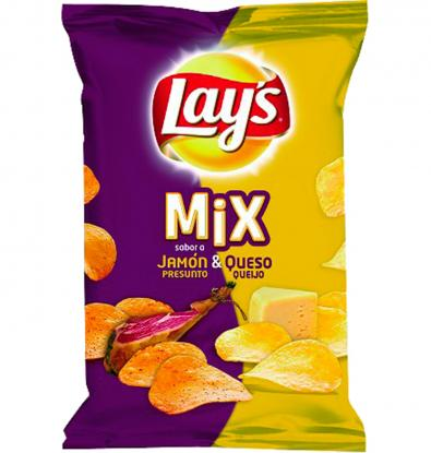 PATATAS LAY'S MIX JAMON&QUES 170 G