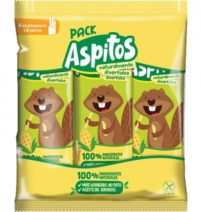 PACK ASPITOS 100% NATURAL 6 UNIDADES