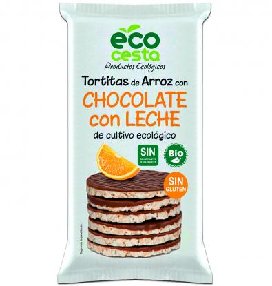 TORTITAS ECOCESTA ARROZ CHOCOLATE CON LECHE 100 G
