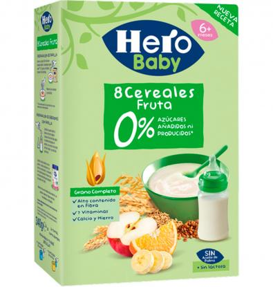 FARINETA 0% HERO BABY 8 CEREALS FRUITA 340 G