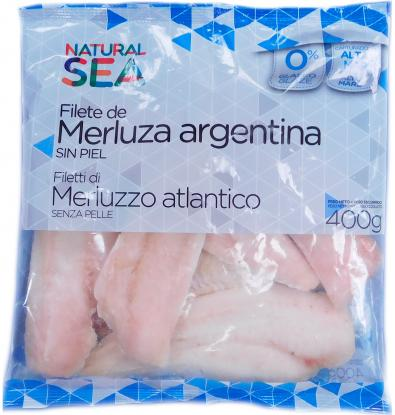 FILETE SIN PIEL NATURAL SEA MERLUZA 400 G