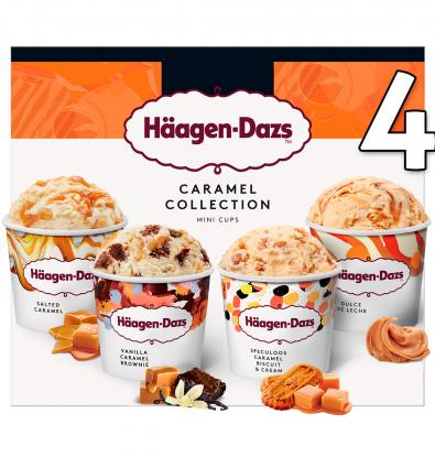 MINICUPS HÄAGEN-DAZS CARAMELO ATTRACTION 4 UNIDADES