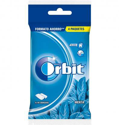 CHICLE ORBIT PEPPERMINT 4 UNIDADES