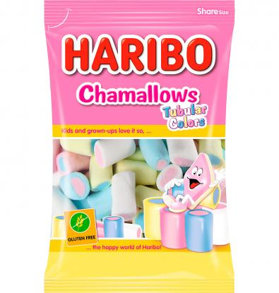 GOMINOLAS HARIBO CHAMALLOWS TUBULAR COLORS 90 G