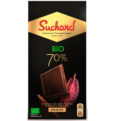 CHOCOLATE SUCHARD NEGRO BIO 70% 90 G