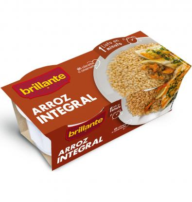 ARROZ INTEGRAL BRILLANTE VASITOS 2 UNIDADES