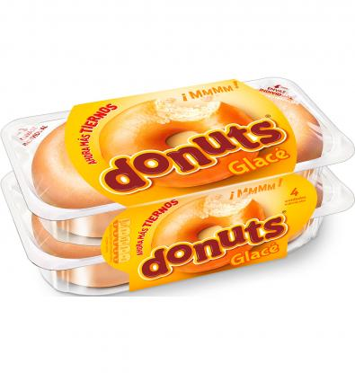 DONUTS GLACE  4 UNIDADES 208 G