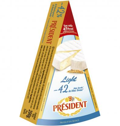 QUESO PRÉSIDENT BRIE LIGHT 200 G