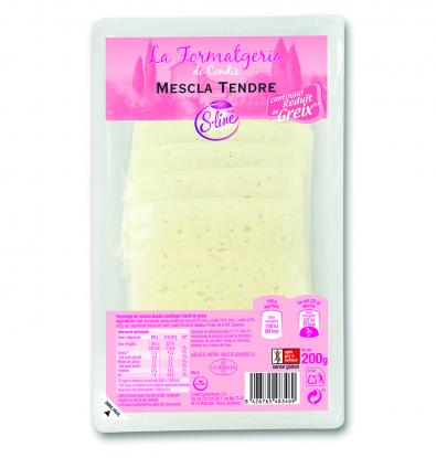 QUESO S.LINE LONCHAS 200 G