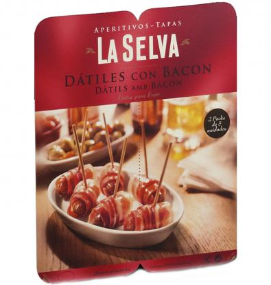 DATILES LA SELVA CON BACON 2X 75 GRS