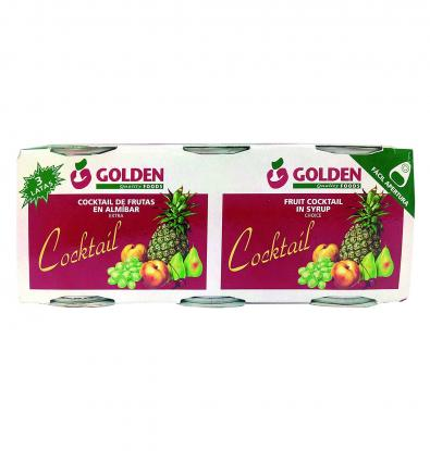 COCKTAIL GOLDEN FOODS FRU.ALM.125G X 3 UNI