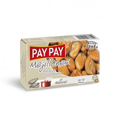 MEJILLONES PAY PAY NATURAL 16-20 70 G