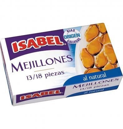 MEJILLONES ISABEL AL NATURAL 63 G