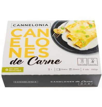 Comprar canelones cannelonia carne s gluten 350 g platos - Canalones de plastico ...