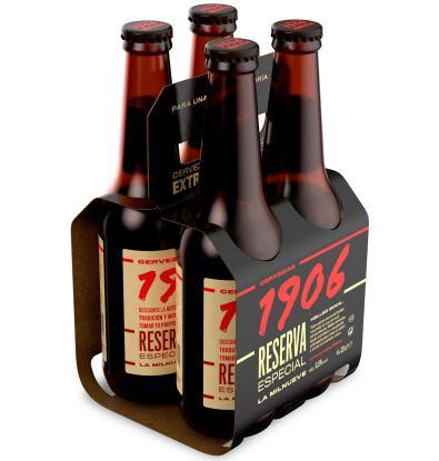 Pack Cervezas Degustación World Beer Challenge 4 cervezas. Mahou Maestra 33  cl, Estrella Galicia