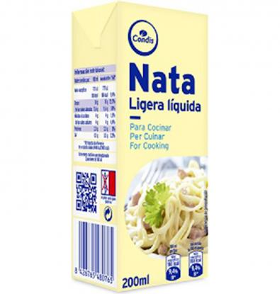 Comprar nata liquida condis cuina brik 200 ml nates a - Nata liquida para postres ...