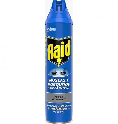 INSECTICIDA RAID MOSQUES I MOSQUITS SPRAY 600 ML